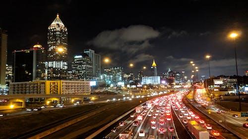 Free stock photo of city, cityscape, highway, night lights
