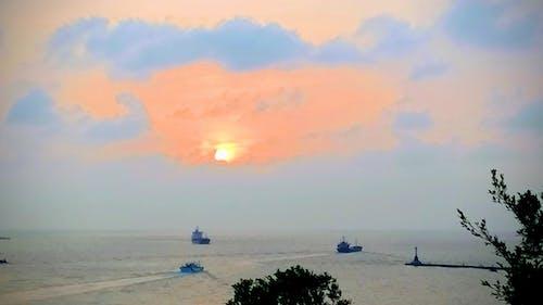 剪影, 夕阳, 天空 的 免费素材图片