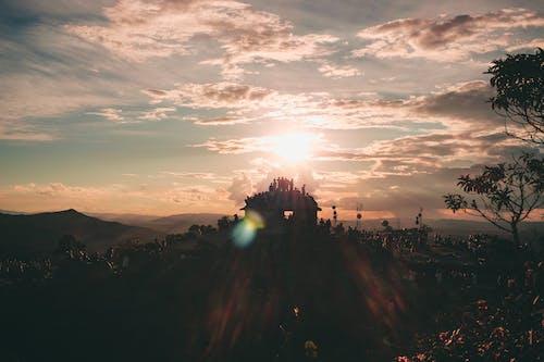 Gratis arkivbilde med appelsin, bakbelysning, cloudsky, daggry