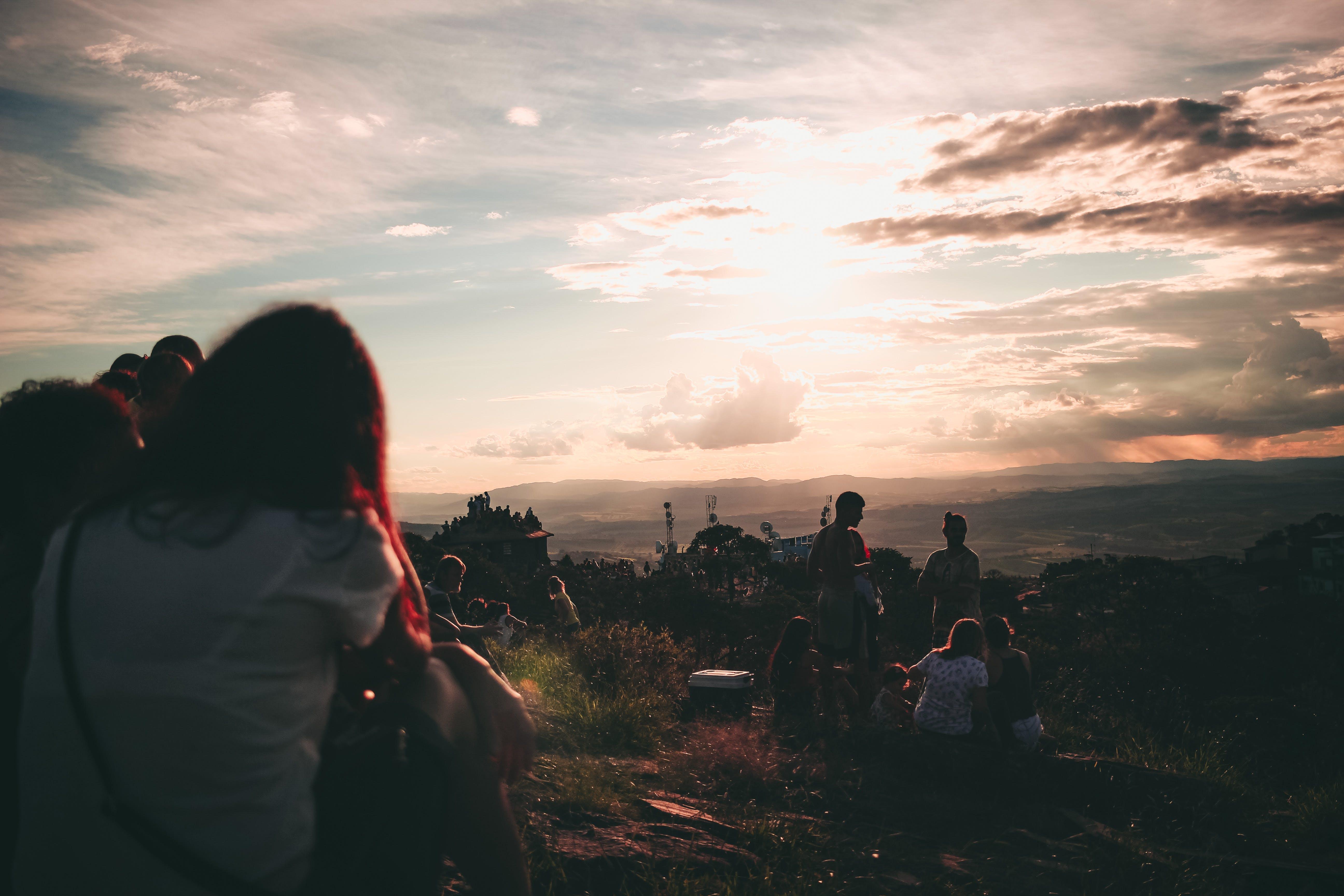Free stock photo of sunset, love, sun, cloud