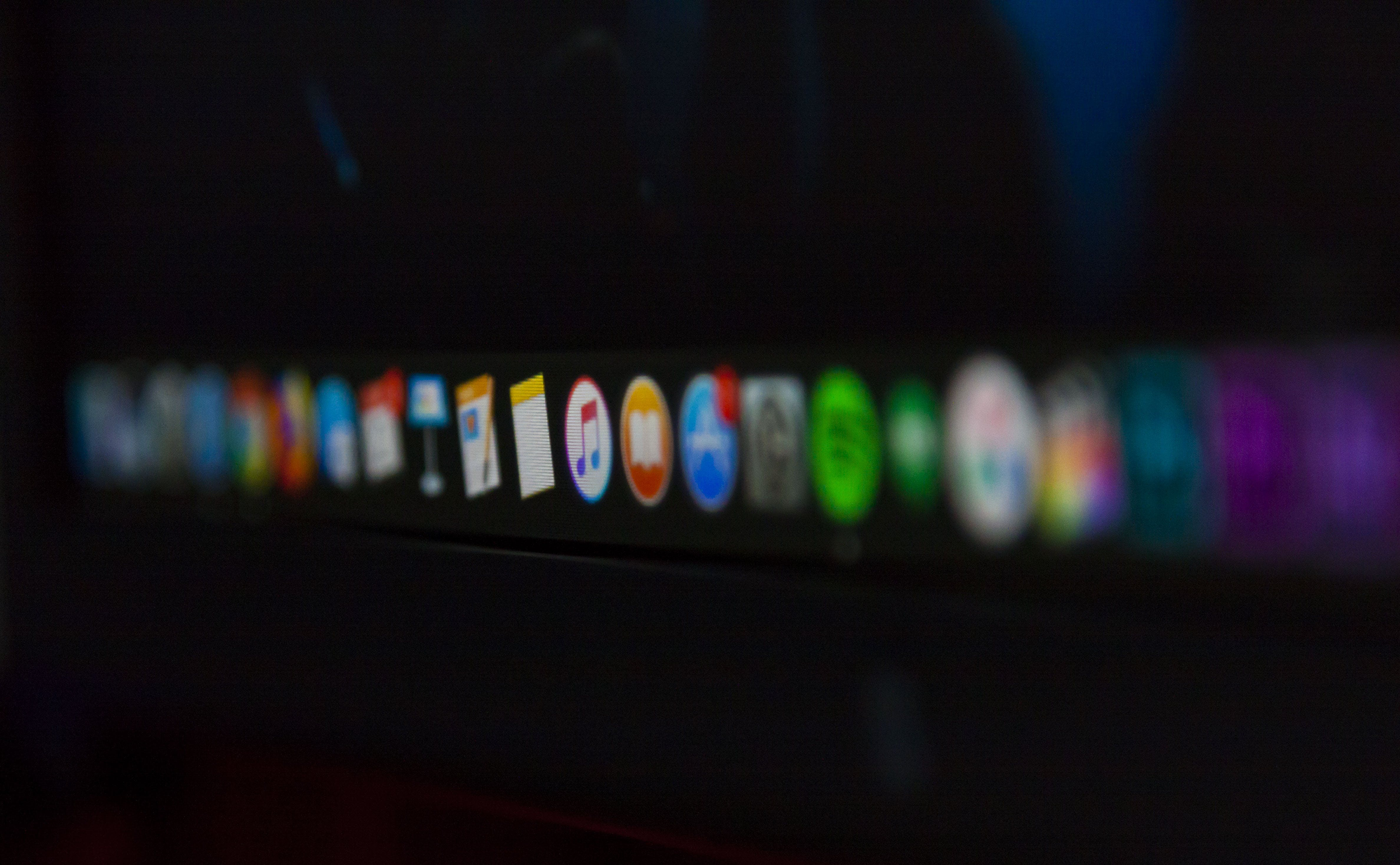 of apple, applications, apps, dock