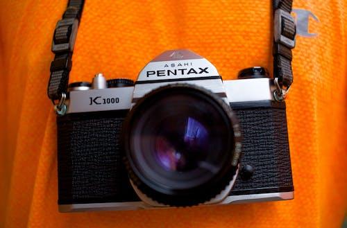 A Black and Silver Vintage Camera