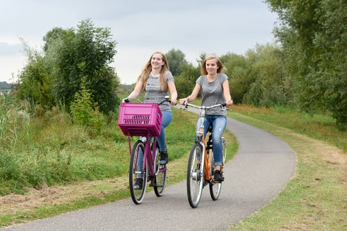 Free stock photo of active, bicycle-path, bicycles
