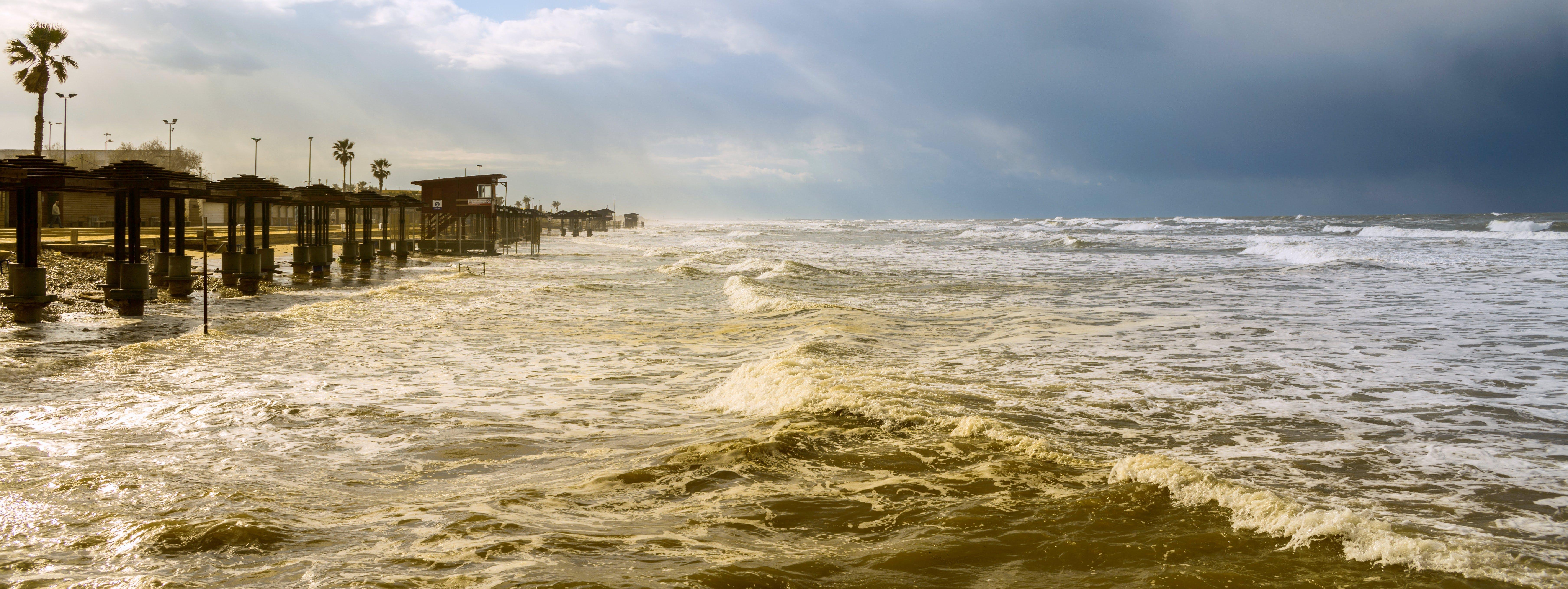 Free stock photo of bad weather, mediterranean sea, sea, seashore