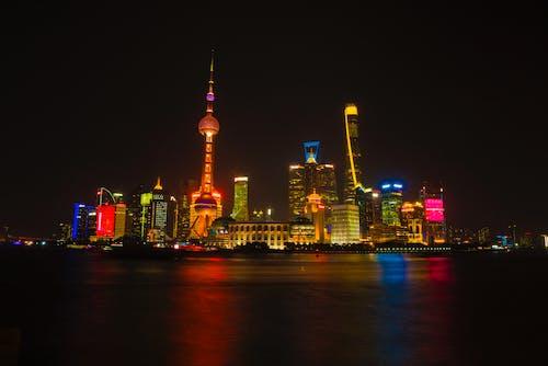 Kostenloses Stock Foto zu abend, architektur, china