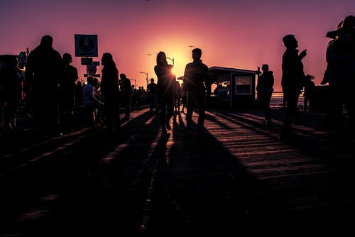 Imagine de stoc gratuită din aglomerație, apus, femeie, în aer liber