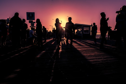 Free stock photo of light, dawn, sunset, people