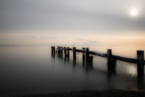 シースケープ, ドック, ビーチ, 地平線の無料の写真素材