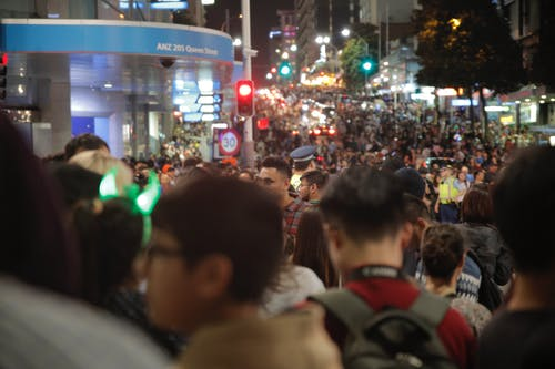 Free stock photo of city, city lights, crowd