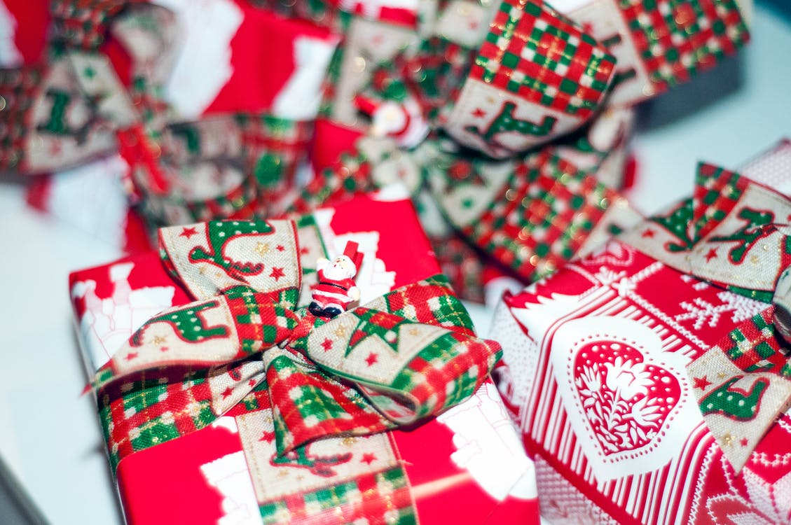 Red and White Gift Box