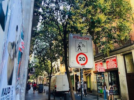 Atencion 20 Road Sign