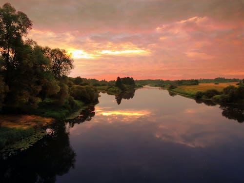 Gratis lagerfoto af aiviekste, laudona, letland, solopgang
