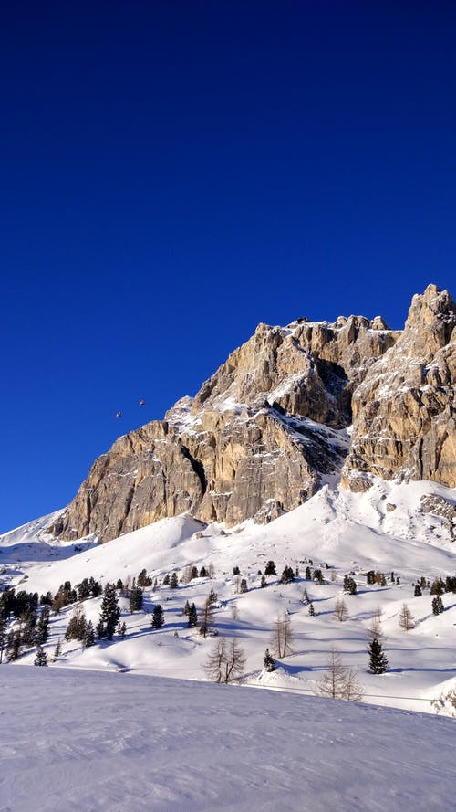 Scenic View of Mountain During Winter