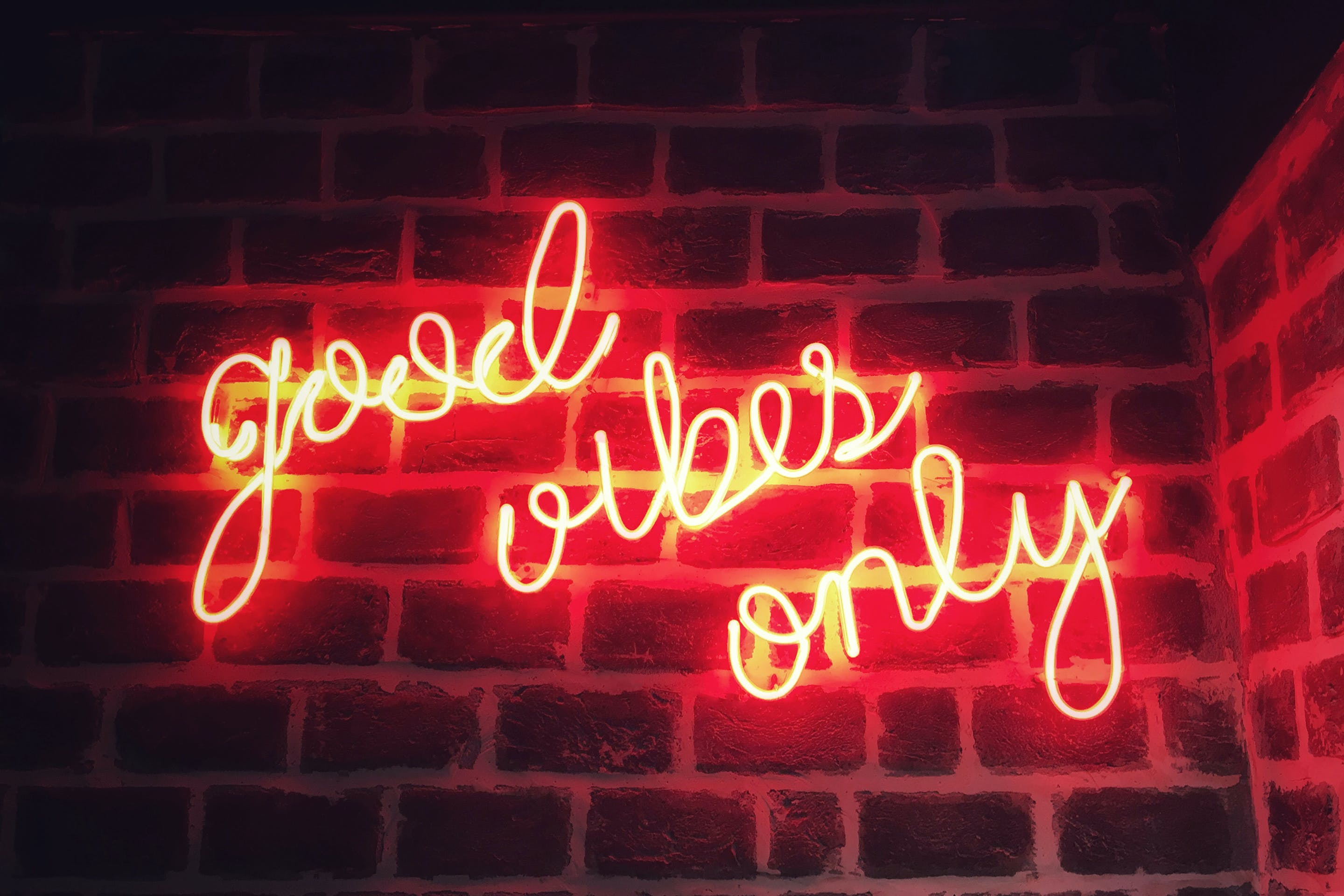 Free stock photo of brick wall, Good Vibes, motivation, positivity