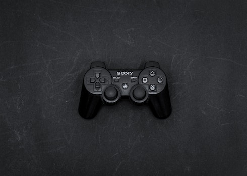 Black Sony Game Controller