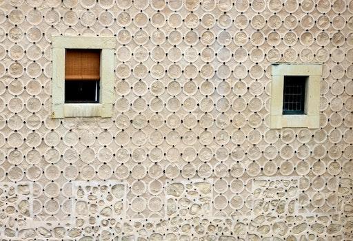 Free stock photo of pattern, wall, windows