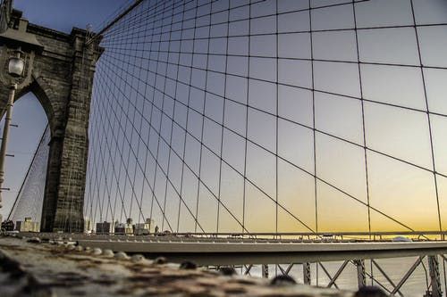 Low Angle Photography of Brooklyn Bridge