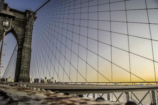 Low Angle Photography of Brooklyn Bridge