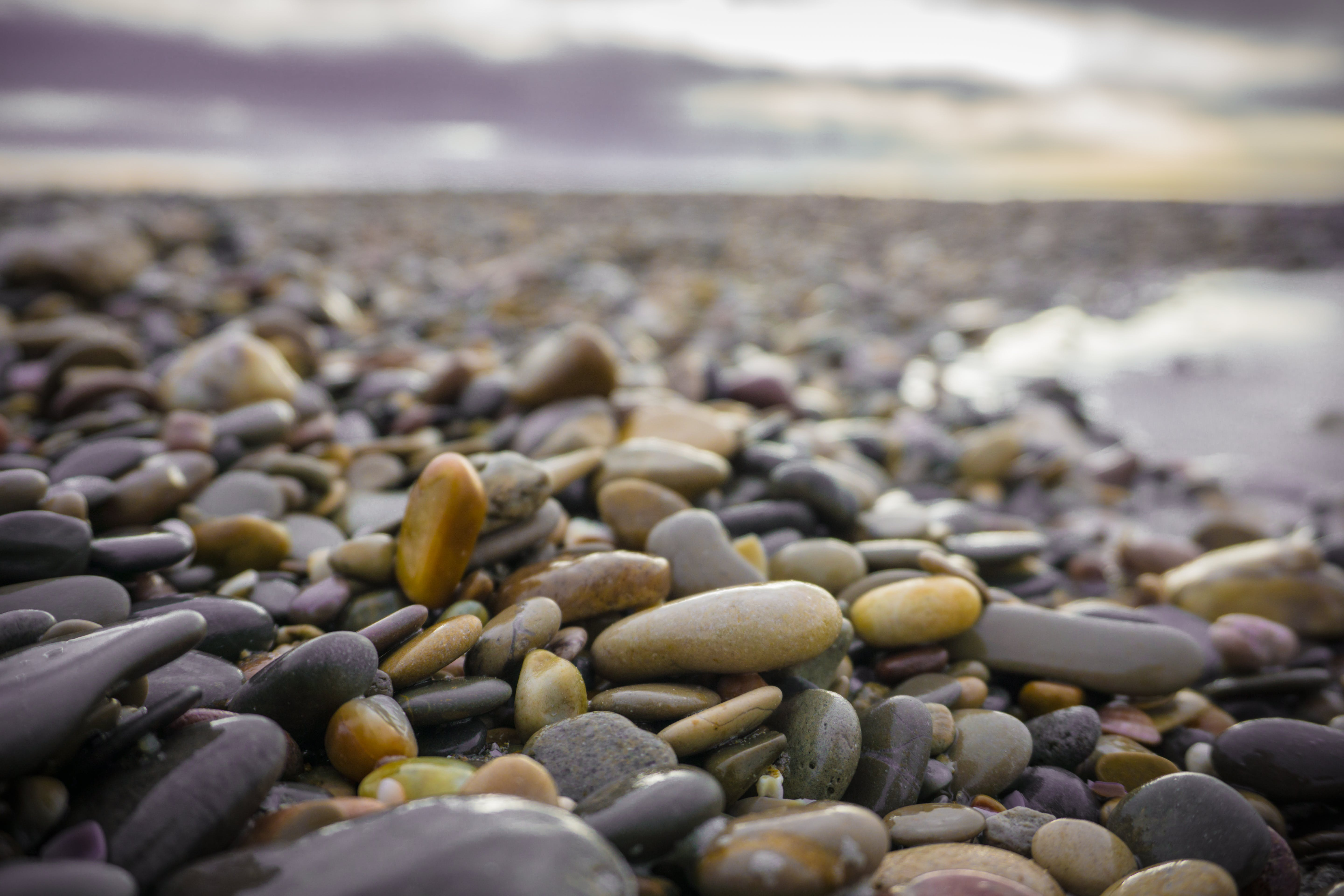 Close-Up Photography of Wet Stones