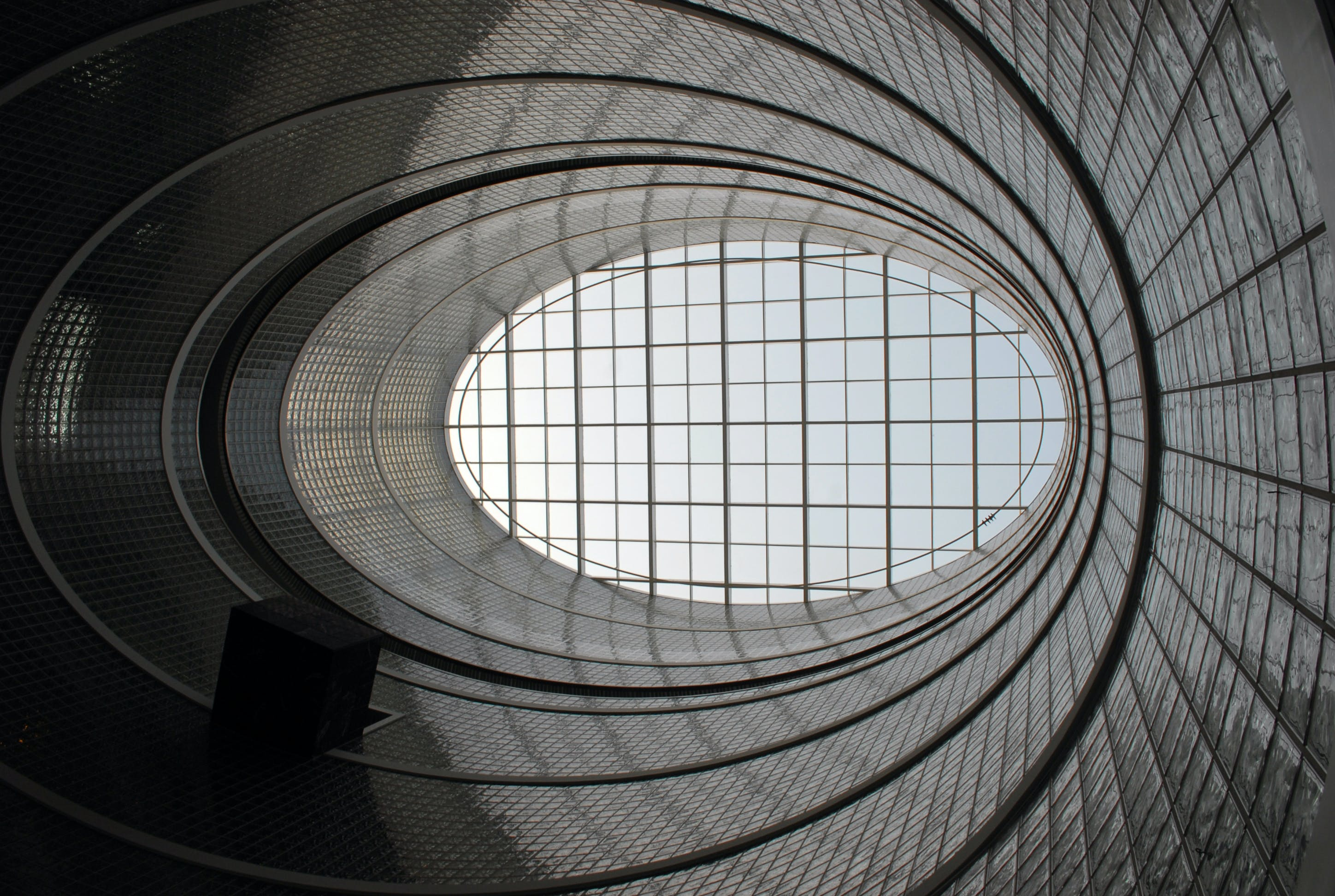 Free stock photo of architectural design, glass block, lima, oval