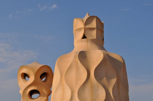 Chimney Pots on the Roof of Casa Mila