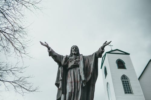 A Statue Outside the Church