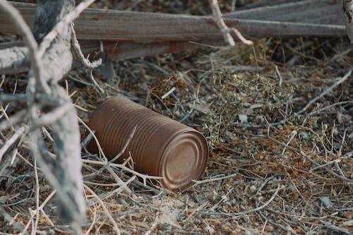 Brown Steel Tube on Brown Dried Leaves