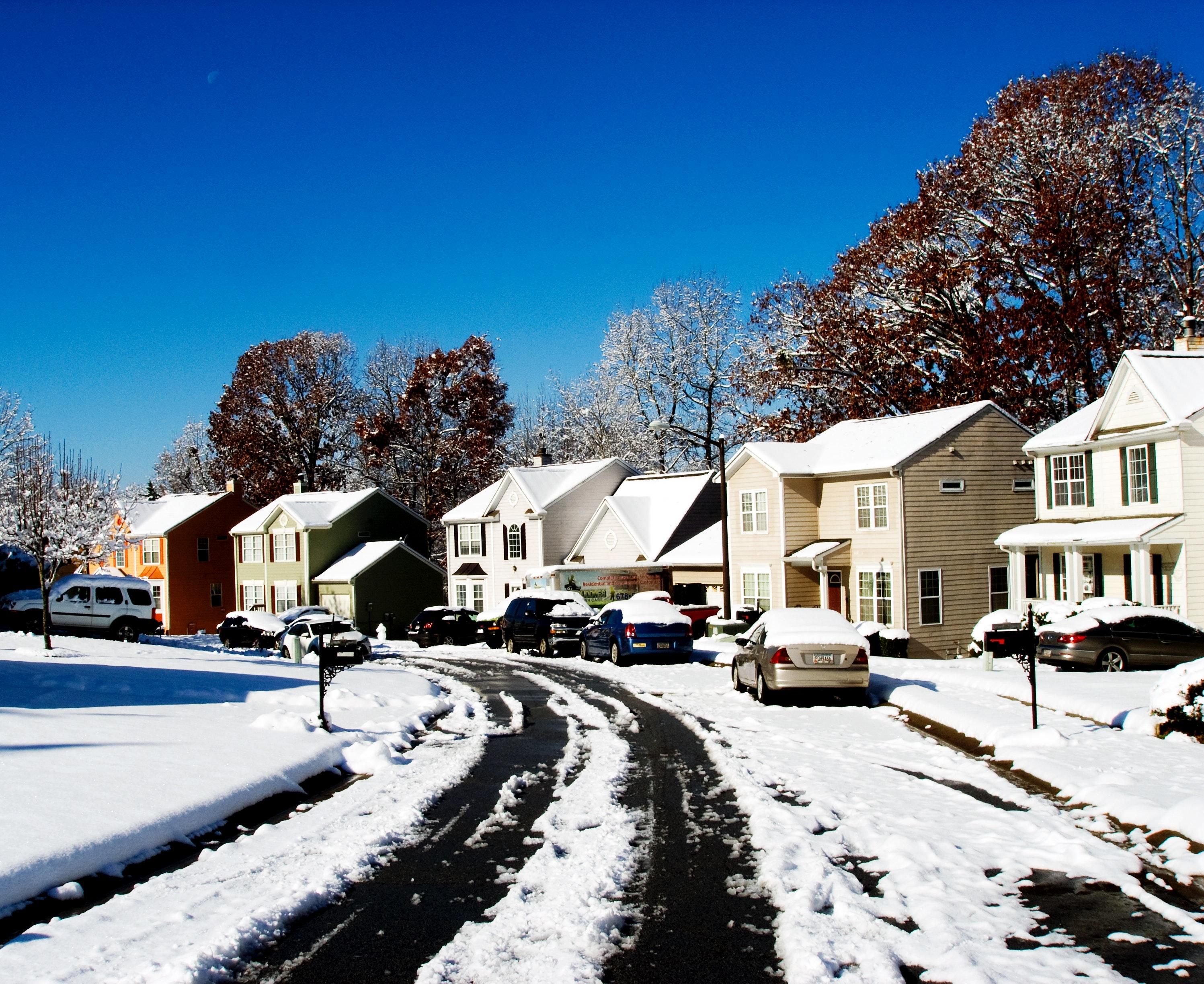 Bird S Eye View Of Snowy Town 183 Free Stock Photo