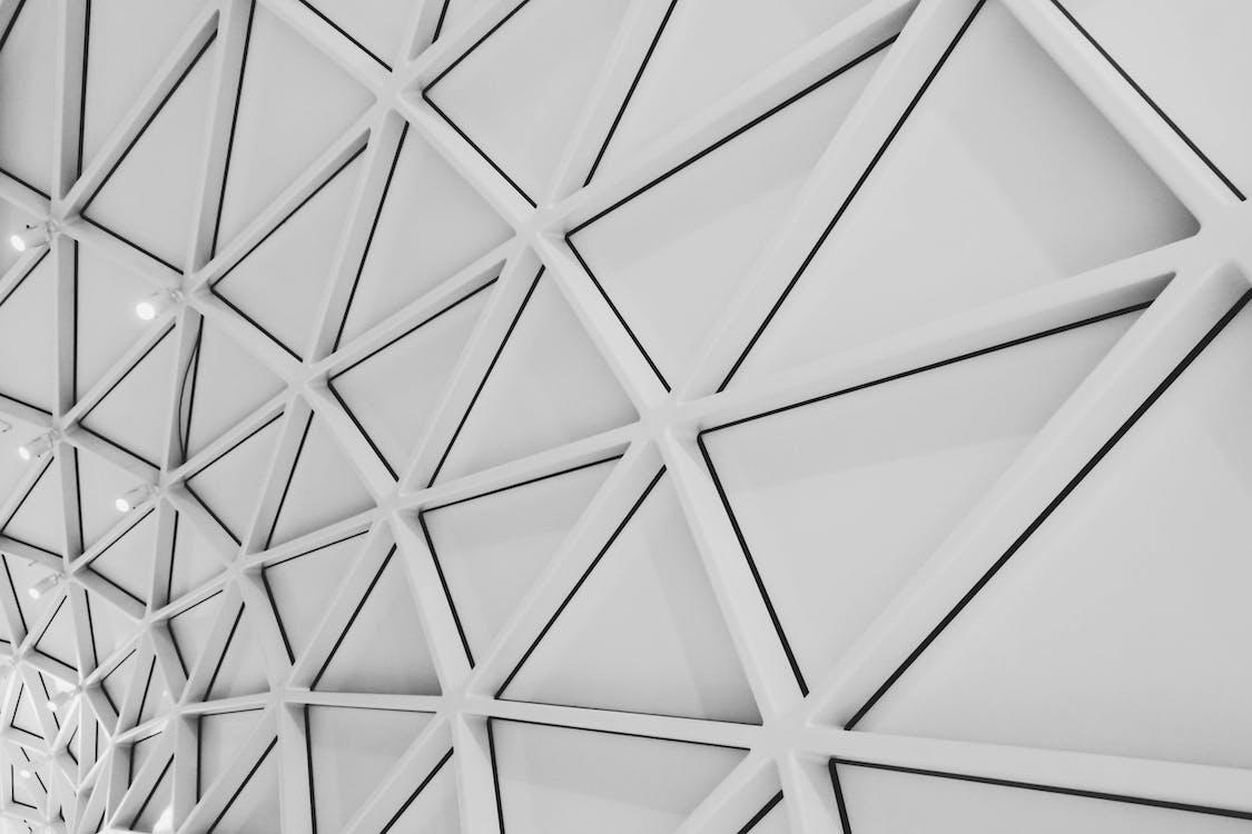 aço, arquitetura, branco