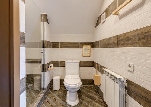 An Interior of a Bathroom