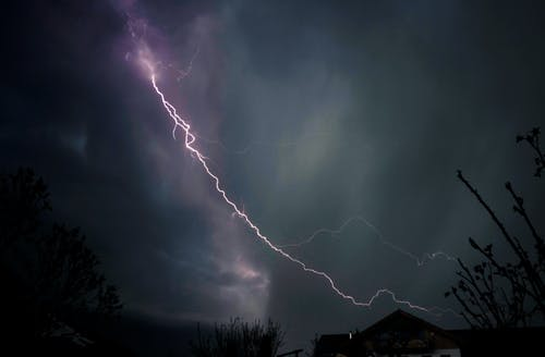 Lightning Strike on the Sky