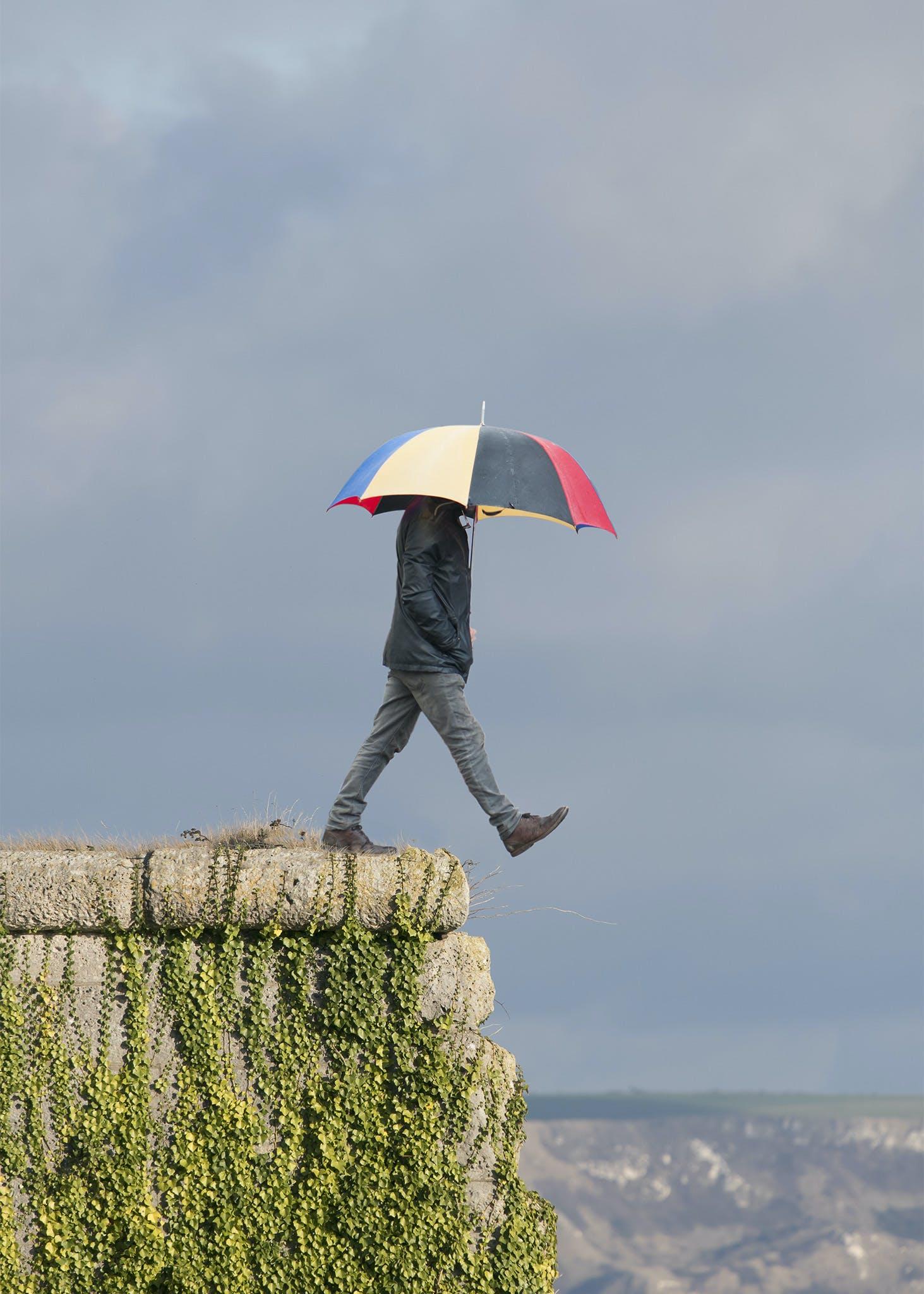 Free stock photo of cloudy sky, height, sunshine, umbrella