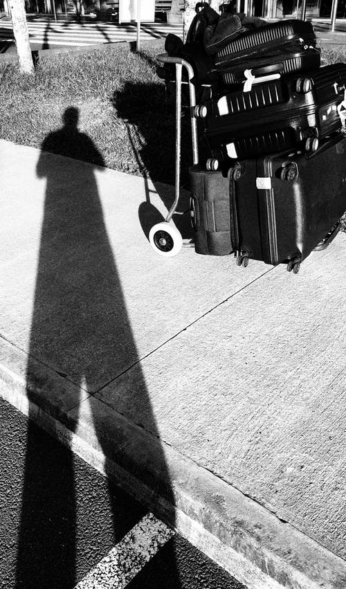 Free stock photo of airport, b amp w, black and white