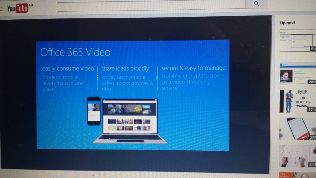 office 365, sharepoint, video