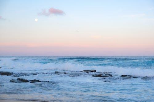Waves Crashing on a Rocky Shore