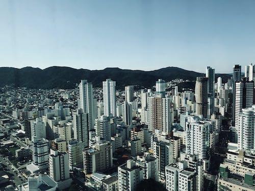 คลังภาพถ่ายฟรี ของ จากข้างบน, ตัวเมือง, ตึก, ตึกระฟ้า