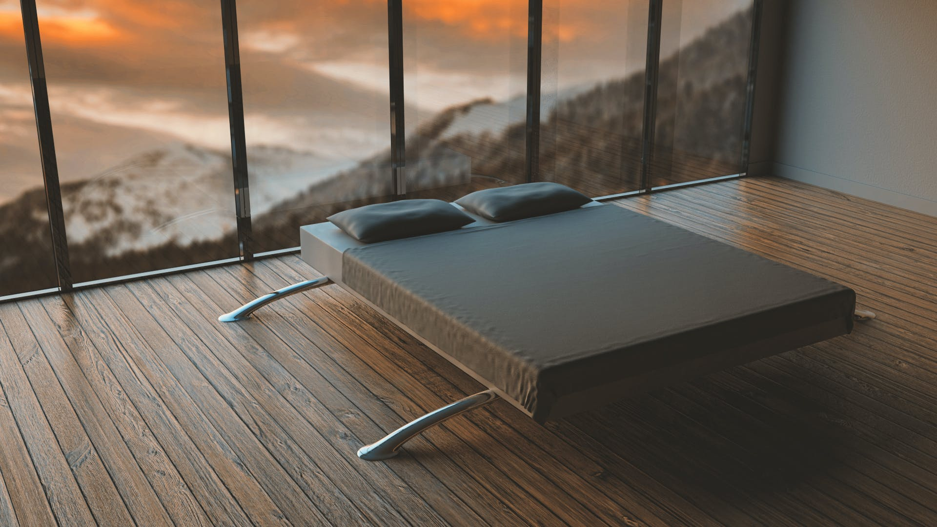 Free stock photo of mountains, bed, bedroom, modern