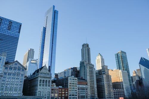 Immagine gratuita di architettura, centro città, chicago, cielo