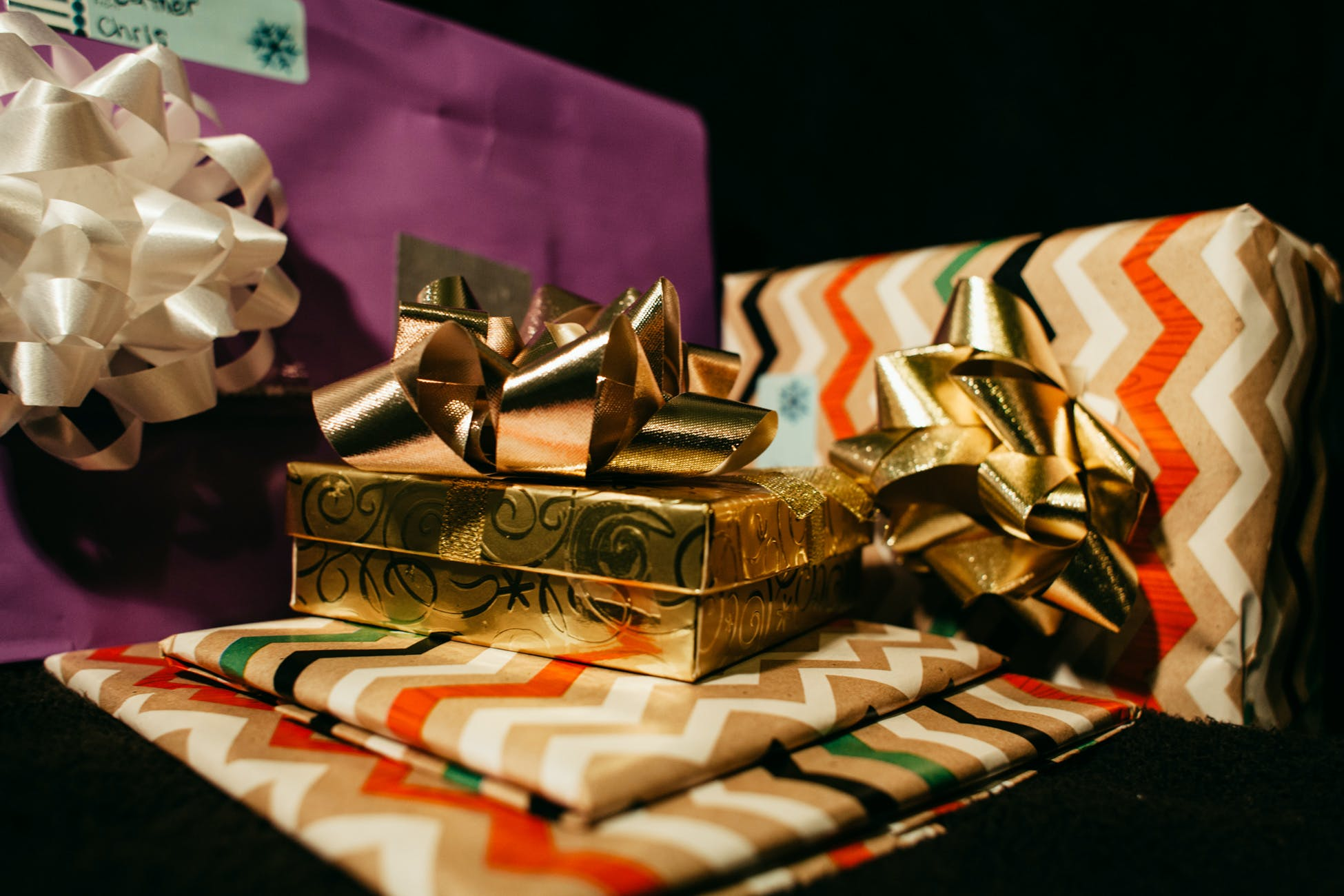 Free stock photo of night, christmas, gifts, presents