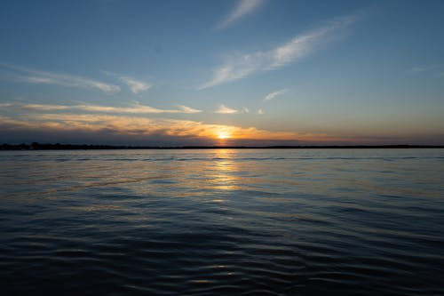 Body of Water Under Blue Sky during Sunset