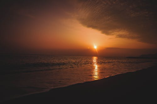 Beach Shore During Sunset