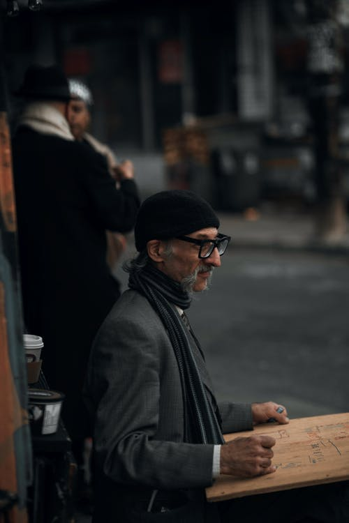Man in Black Jacket and Black Sunglasses