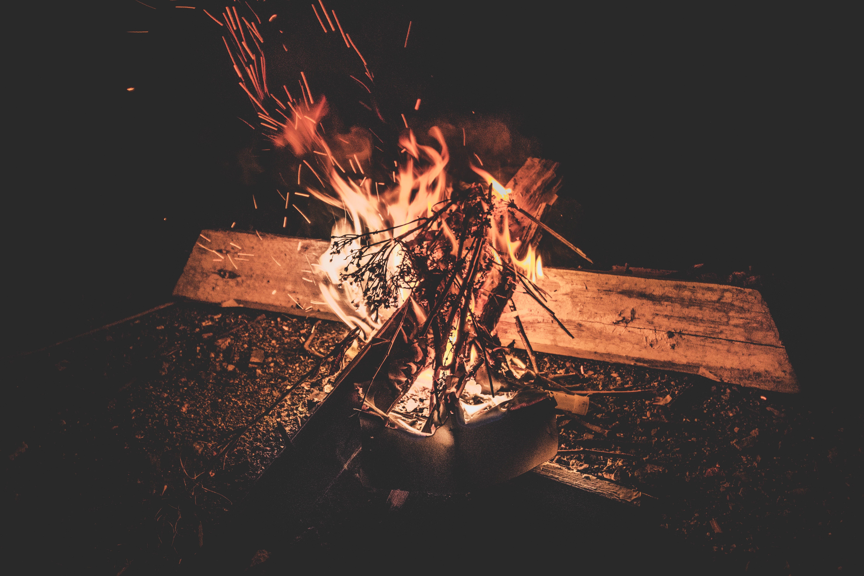 Kostenloses Stock Foto zu brennholz, feuer, flamme, heiß