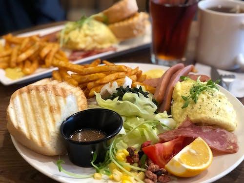 Free stock photo of breakfast, egg, fries