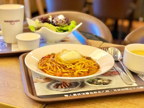 Free stock photo of coffee, pasta, restaurant