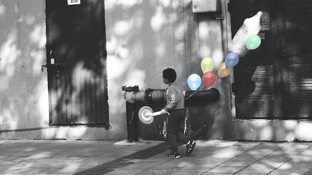 Free stock photo of balloon, kids