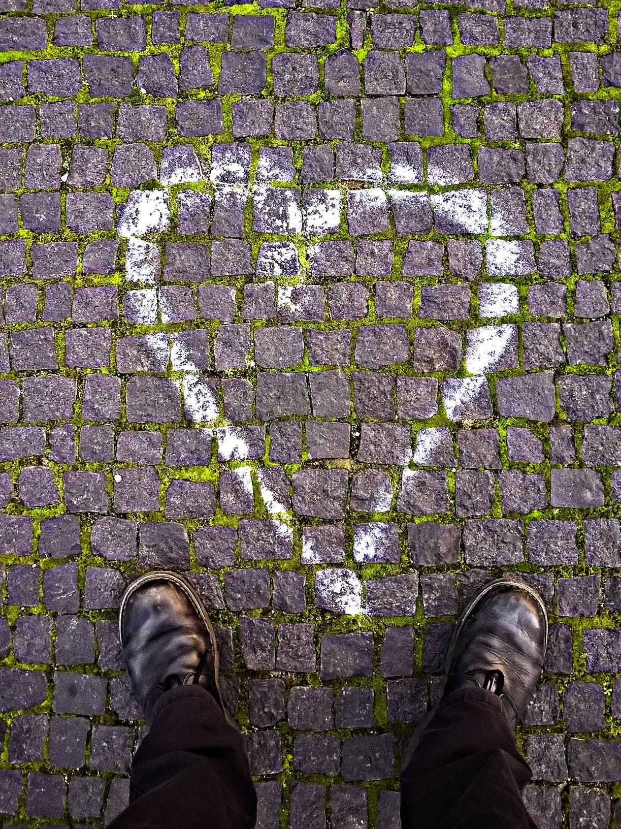 Free stock photo of boots, heart, paint, pavement
