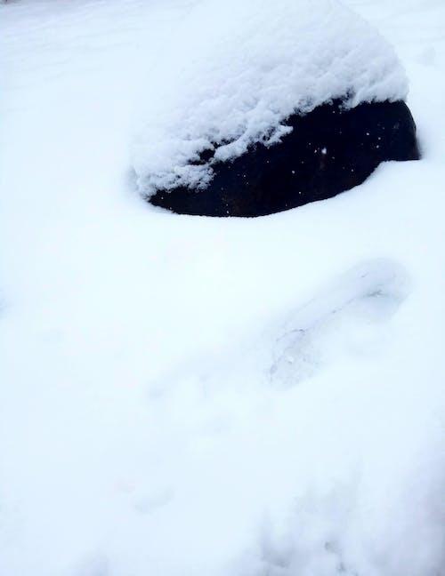 Gratis lagerfoto af sne sten