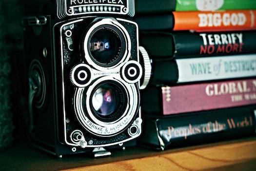 Tilt Lens Shot of Gray and Black Speaker