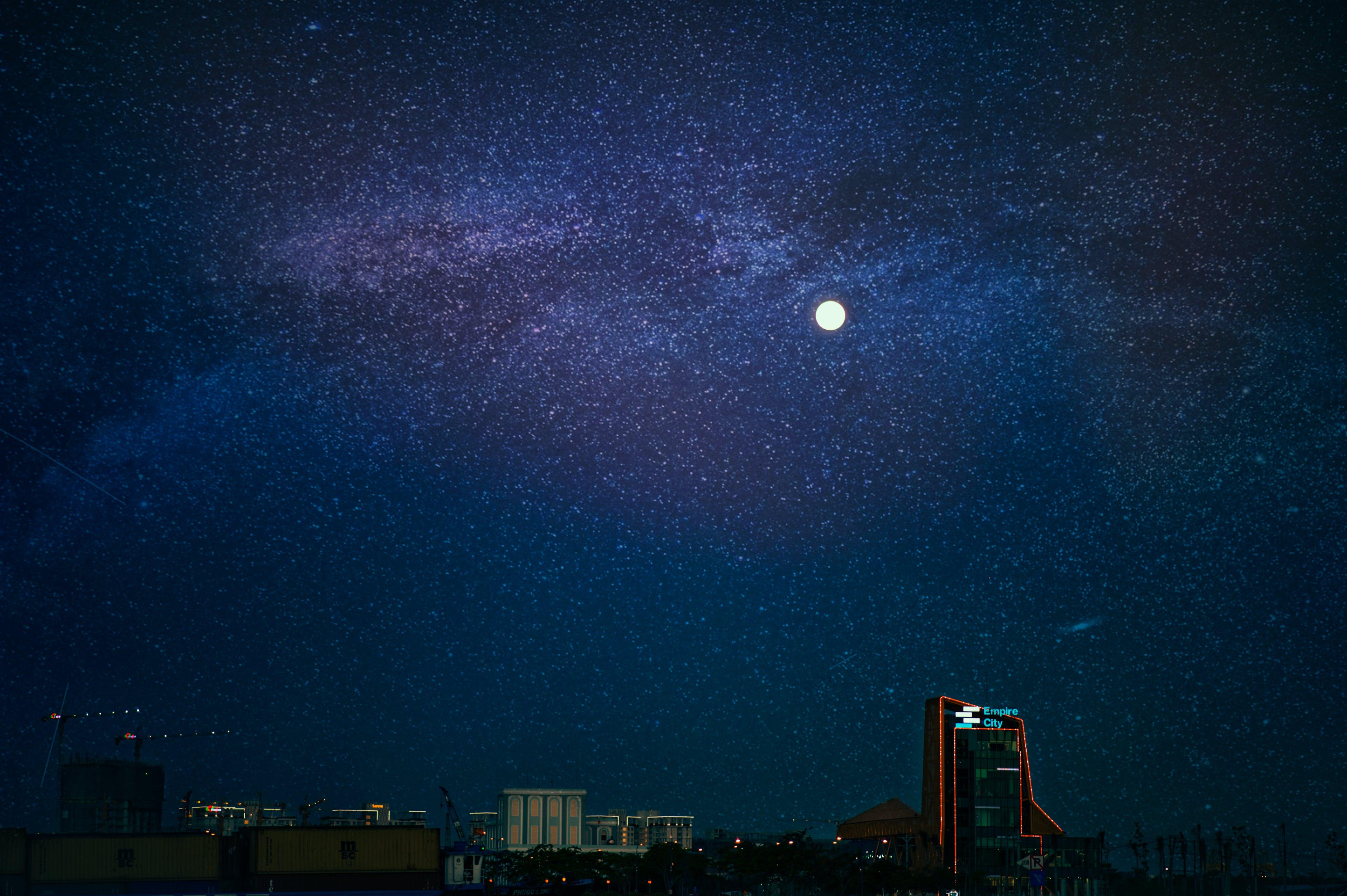 Бесплатное стоковое фото с galaxy, Астрономия, вечер, дневной свет